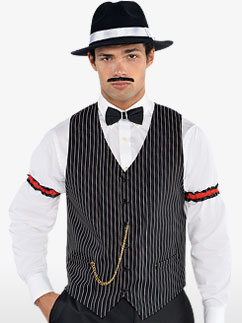 Gangster Vest - Adult Costume Fancy Dress