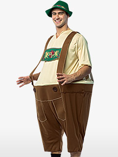 Lederhosen - Adult Costume Fancy Dress