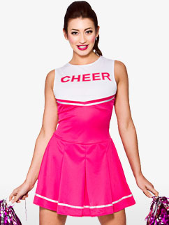 Pink High School Cheerleader - Adult Costume Fancy Dress