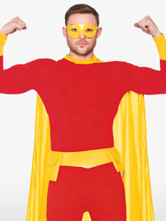 Red Superhero - Adult Costume