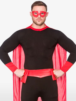 Black Superhero - Adult Costume