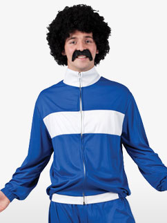 80's Blue Retro Trackie - Adult Costume Fancy Dress