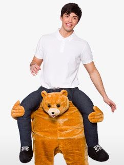 Carry Me Teddy - Adult Costume Fancy Dress