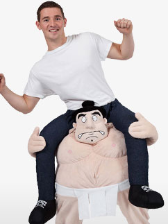 Carry Me Sumo - Adult Costume Fancy Dress