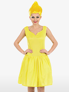 Sexy Yellow Pixie - Adult Costume Fancy Dress
