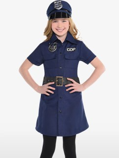 Police Dress - Child Costume Fancy Dress