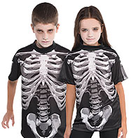 Black and Bone T-Shirt - Child Costume