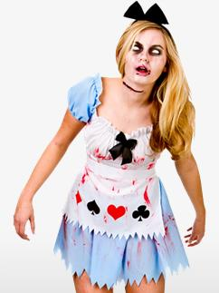 Alice in Zombieland - Adult Costume Fancy Dress