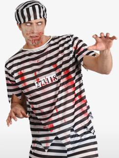 Zombie Convict - Adult Costume Fancy Dress