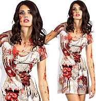 Zombie Bride Photorealistic Dress - Adult Costume