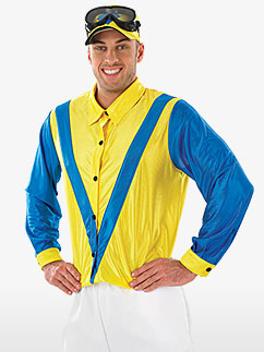 Blue and Yellow Jockey - Adult Costume Fancy Dress