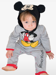 Mickey Mouse Jersey Romper - Baby Costume Fancy Dress