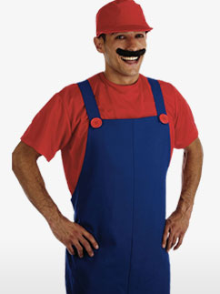 Plumbers Mate Red - Adult Costume Fancy Dress