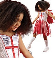 England Football Fairy - Child Costume Fancy Dress