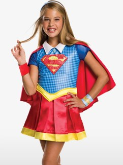 Deluxe Supergirl - Child Costume Fancy Dress