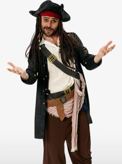 Grand Heritage Jack Sparrow - Adult Costume Fancy Dress