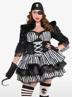Dark Sea Maiden Plus Size - Adult Costume Fancy Dress