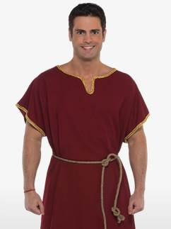Burgundy Tunic - Adult Costume Fancy Dress