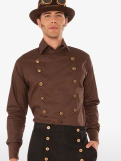Steampunk Brown Shirt