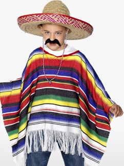 Poncho - Child Costume Fancy Dress