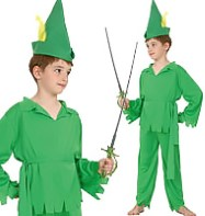 Robin Hood & Peter Pan 2in1 - Child Costume Fancy Dress