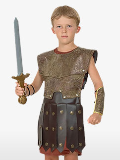 Roman Warrior - Child Costume Fancy Dress