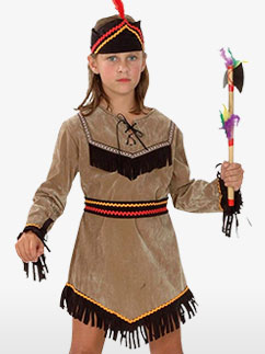 Indian Girl - Child Costume Fancy Dress