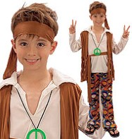 Hippy  Boy - Child Costume Fancy Dress