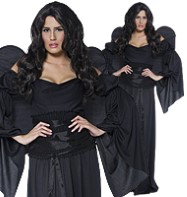 Cemetery Angel Black - Adult Costume Fancy Dress