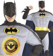 The Batman Muscle Chest - Adult Costume Fancy Dress