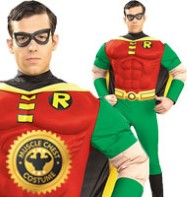 Robin Muscle Chest - Adult Costume Fancy Dress