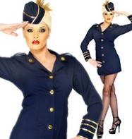 Flight Attendant - Adult Costume Fancy Dress