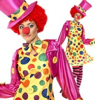 Clown Lady - Adult Costume Fancy Dress