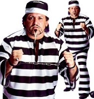 Convict Man - Adult Costume Fancy Dress