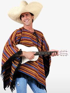 Mexican Poncho - Adult Costume Fancy Dress