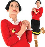 Popeye Olive Oyle - Adult Costume Fancy Dress
