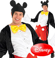 Mickey Mouse - Adult Costume Fancy Dress