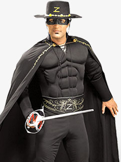 Deluxe Zorro - Adult Costume Fancy Dress