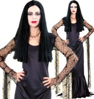 Addams Family Morticia - Adult Costume Fancy Dress
