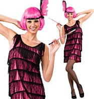 Jazzy Pink Flapper - Adult Costume Fancy Dress