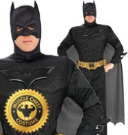 Batman Dark Knight Deluxe Muscle Chest - Adult Costume Fancy Dress