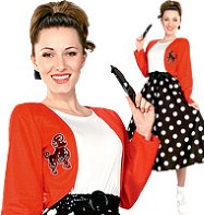 Polka Dot Rocker - Adult Costume Fancy Dress