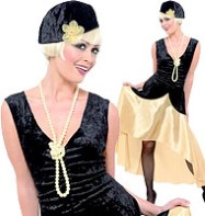 Perfect  Black Dress on Gatsby Girl   Adult Costume Fancy Dress