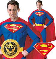 Superman Deluxe Mucle Chest - Adult Costume Fancy Dress