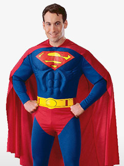 Superman Deluxe Muscle Chest - Adult Costume Fancy Dress