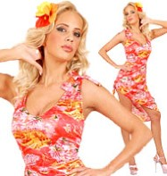 Hawaiian Dress on Hawaiian Step Into Summer With Our Ladies Fitted Hawaiian Dress Which