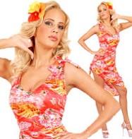 Hawaiian Dress on Hawaiian Step Into Summer With Our Ladies Fitted Hawaiian Dress Which