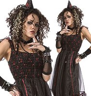 Red Spider Witch - Adult Costume Fancy Dress