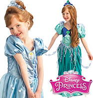 Ariel to Cinderella Platinum Reversible - Child Costume Fancy Dress
