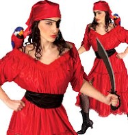 Caribbean Wench - Adult Costume Fancy Dress